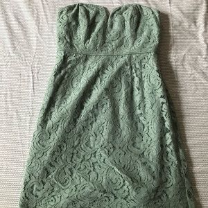 Jcrew sleeveless lace party dress in mint, 8.